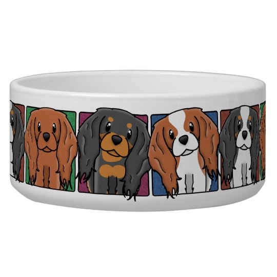 Colourful Cartoon Cavalier King Charles Spaniels Pet Food