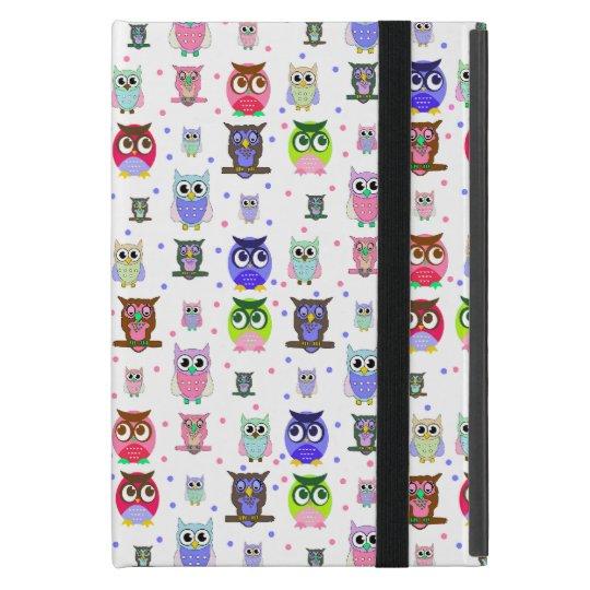 Colourful Cartoon Owls iPad Mini Case