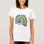 Colourful Cartoon Peacock T-Shirt