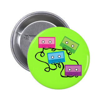 Colourful Cassette Tapes 6 Cm Round Badge