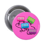 Colourful Cassette Tapes Pin