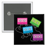 Colourful Cassette Tapes Pinback Button