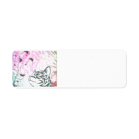 Colourful Cat Return Address Label
