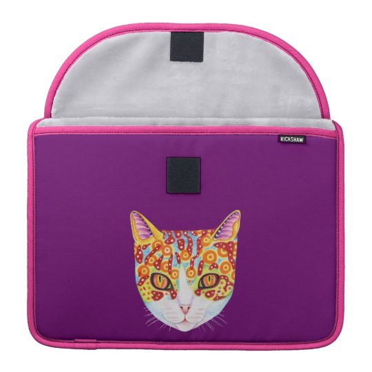 Colourful Cat Sleeve For MacBooks