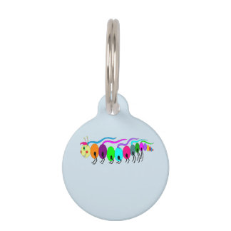 Colourful Caterpillar Pet ID Tag