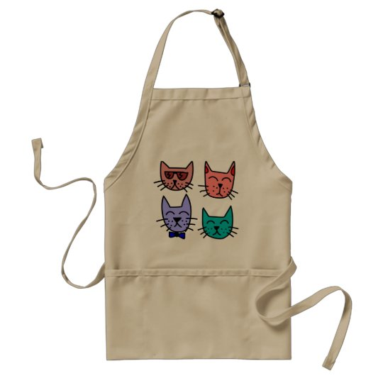 Colourful cats Kitchen apron