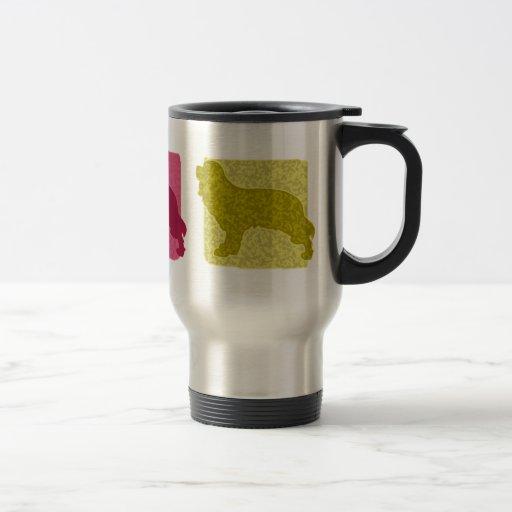 Colourful Cavalier King Charles Spaniel Stainless Steel Travel Mug