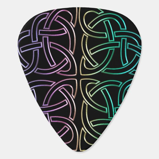 Colourful Celtic Knot Guitar Pick