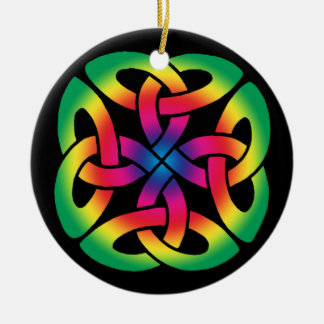 Colourful Celtic Knot Ornament