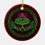 Colourful Celtic Knot Thistle