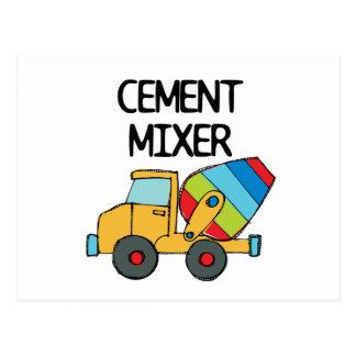 Colourful Cement Mixer Postcard