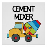Colourful Cement Mixer Poster