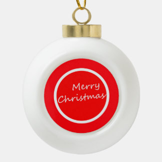Colourful Ceramic Ball Ornament (Merry Christmas)