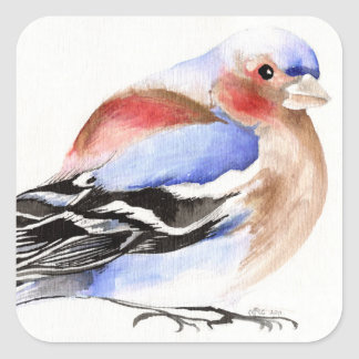 Colourful Chaffinch 2011 Square Sticker