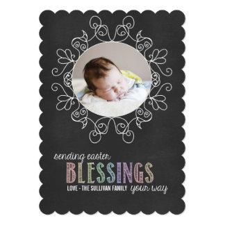 Colourful Chalk | Happy Easter Photo Flat Card 13 Cm X 18 Cm Invitation Card