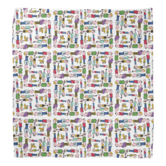 Colourful characters patterned bandana