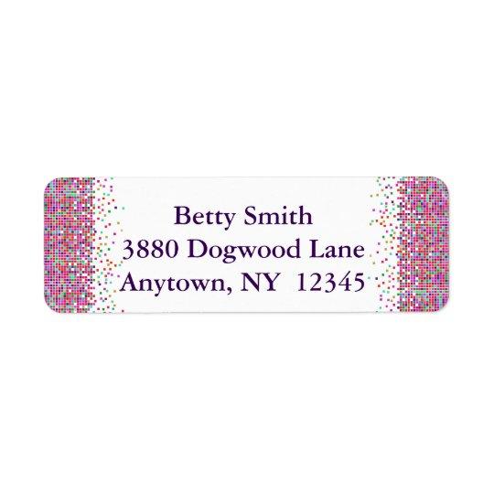 Colourful Checks Design Return Address Labels