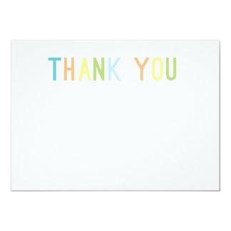 Colourful Cheer Thank You Flat Cards 11 Cm X 16 Cm Invitation Card
