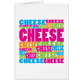 Colourful Cheese Greeting Card