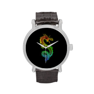 Colourful Chinese Dragon Watch
