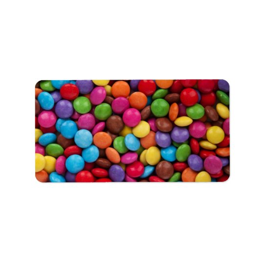 Colourful Chocolate Candy Address Label