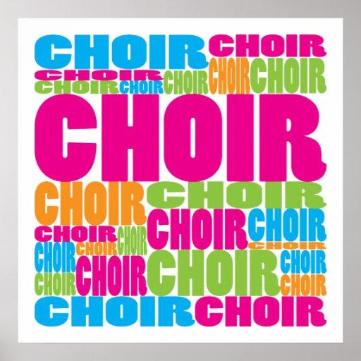 Colourful Choir Print
