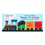 Colourful Choo Choo Train Birthday Invitation