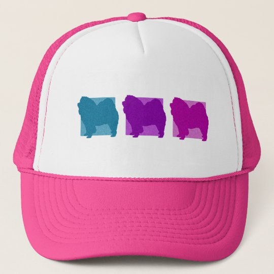 Colourful Chow Chow Silhouettes Trucker Hat