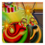 Colourful Christmas Ornament Mirrored Decoration