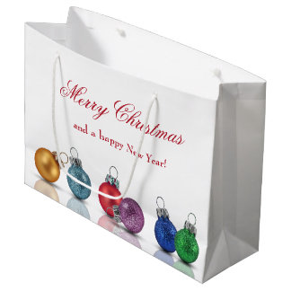 Colourful Christmas Ornaments - Large Gift Bag