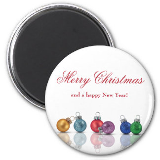 Colourful Christmas Ornaments - Magnet