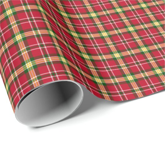 Colourful Christmas Plaid Pattern Wrapping Paper