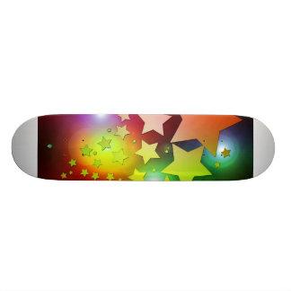 colourful Christmas stars lights 21.6 Cm Old School Skateboard Deck
