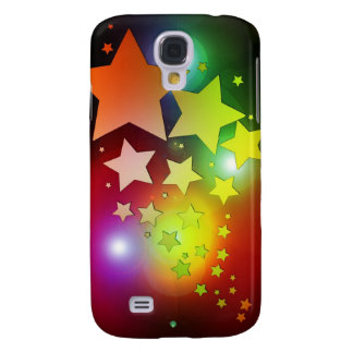 colourful Christmas stars lights Galaxy S4 Case