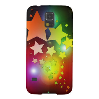colourful Christmas stars lights Galaxy S5 Cover