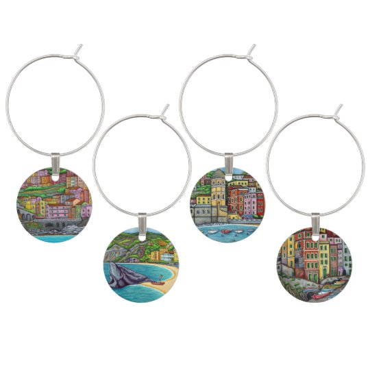 Colourful Cinque Terre - Set of 4 Wine