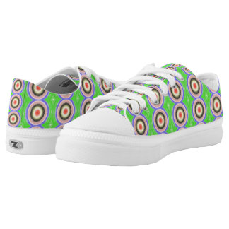 Colourful circle pattern low tops