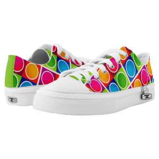 Colourful Circles and Squares Pattern2 Printed Shoes
