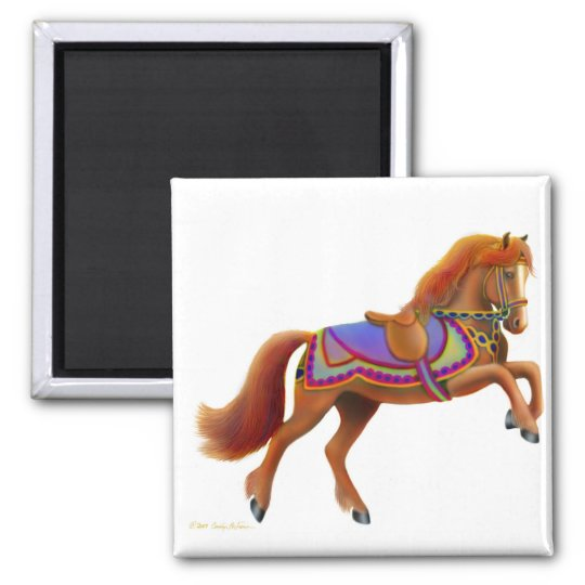 Colourful Circus Horse Magnet