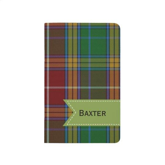 Colourful Clan Baxter Plaid Pocket Journal