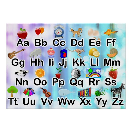 Colourful Classroom ABC Alphabet Poster