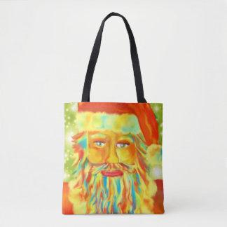 Colourful Claus Art Tote Bag