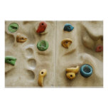 Colourful Climbing Wall Rocks Poster