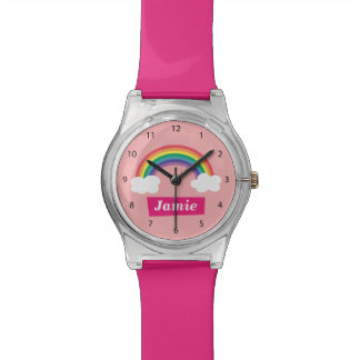 Colourful Clouds and Rainbow, for Little ones Wrist Watch