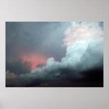 Colourful clouds print