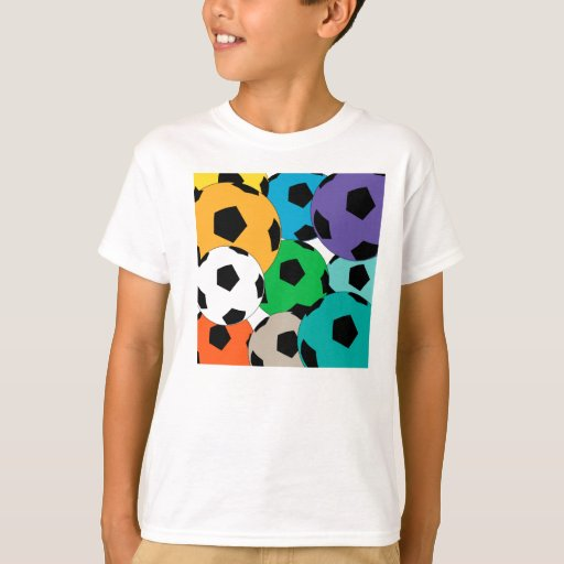 Colourful cluster of soccer balls Shirts