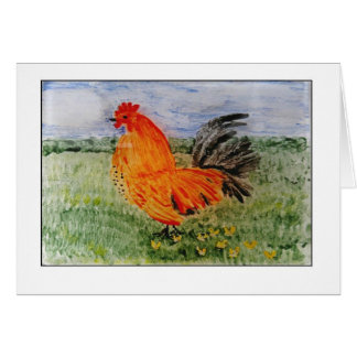 Colourful Cockeral Art Greeting Card
