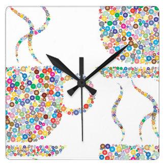Colourful Coffee Wall Clock