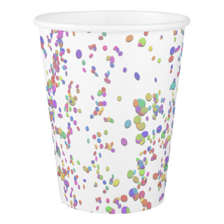 Colourful Confetti Birthday Party Paper Cup