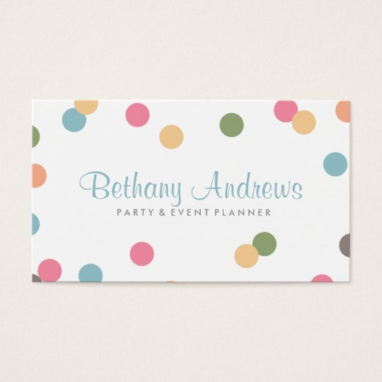 Colourful Confetti Business Cards